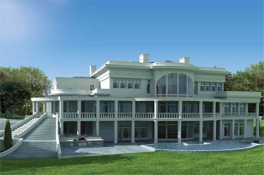 BACK VIEW OF THE BREAKERS HOUSE PLAN