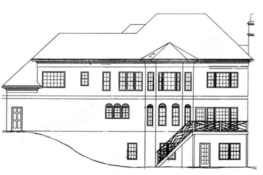 106-1231: Home Plan Rear Elevation