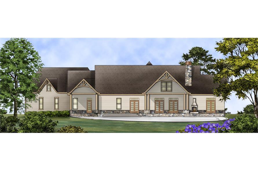 106-1274 house plan rear