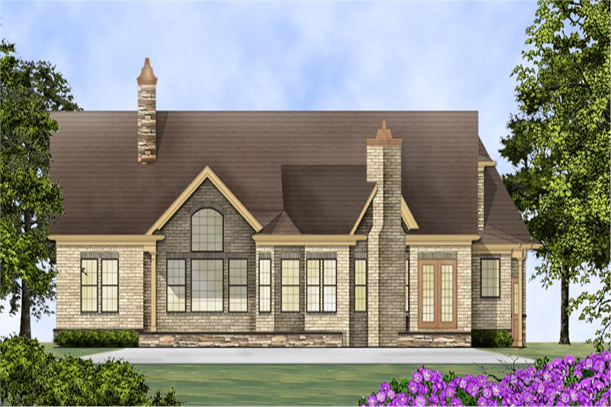 106-1275: Home Plan Rear Elevation