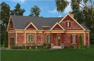 3-Bedroom, 2344 Sq Ft Craftsman Home Plan - 106-1276 - Main Exterior