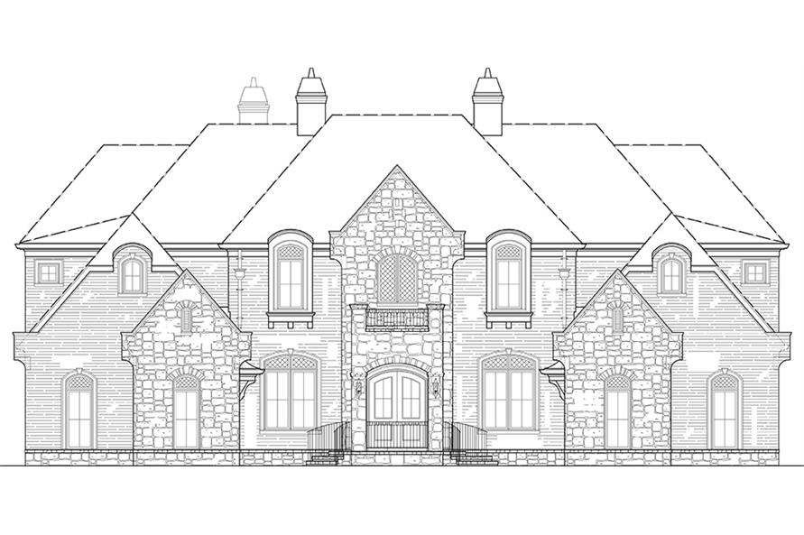 106-1277: Home Plan Front Elevation