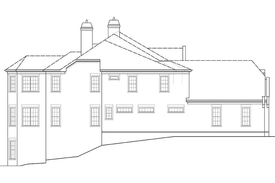106-1277: Home Plan Left Elevation