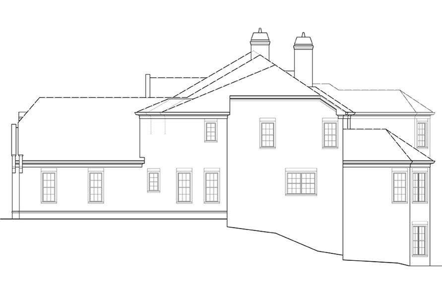 106-1277: Home Plan Right Elevation