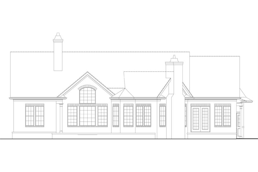 106-1281: Home Plan Rear Elevation