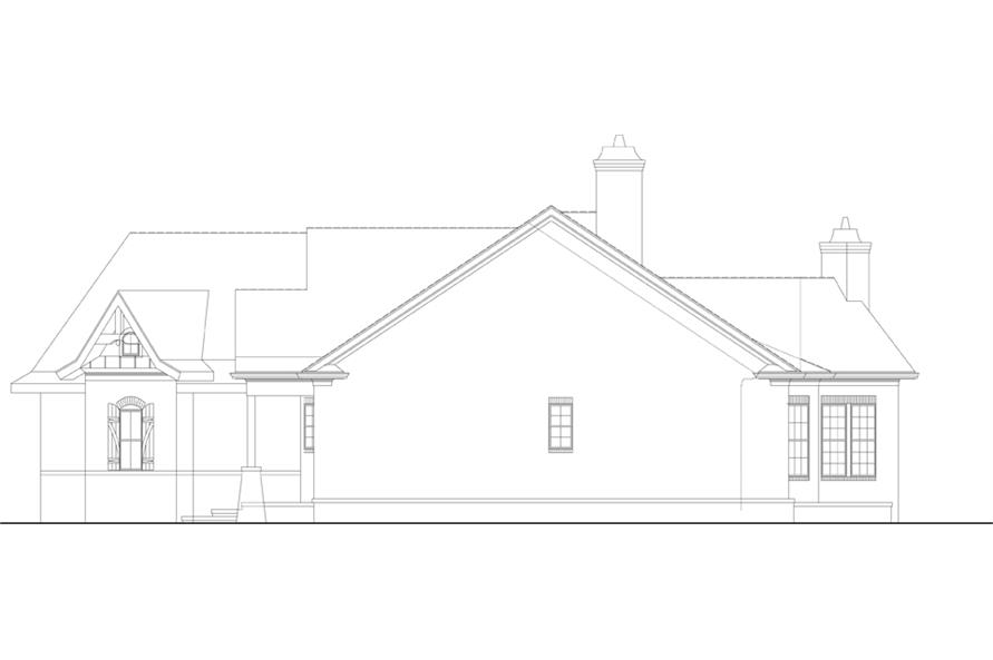 106-1281: Home Plan Right Elevation