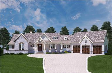 3-Bedroom, 2531 Sq Ft Country Home - Plan #106-1283 - Main Exterior