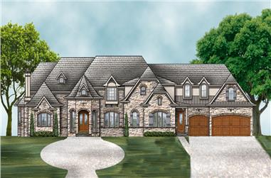 4-Bedroom, 4770 Sq Ft Luxury House Plan - 106-1294 - Front Exterior