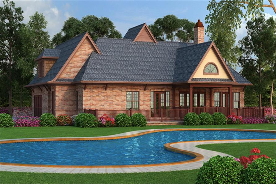 106-1313: Home Plan Rear Elevation