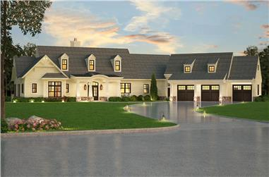 3-Bedroom, 2830 Sq Ft Luxury House - Plan #106-1315 - Front Exterior