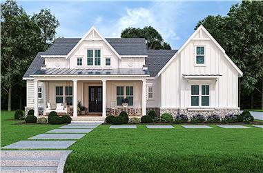 3-Bedroom, 2484 Sq Ft Farmhouse Home - Plan #106-1326 - Main Exterior