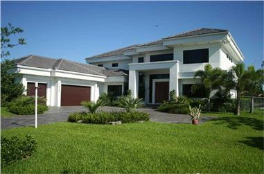 4-Bedroom, 5555 Sq Ft Contemporary Home Plan - 107-1015 - Main Exterior