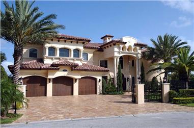 6-Bedroom, 7100 Sq Ft Luxury Home Plan - 107-1085 - Main Exterior