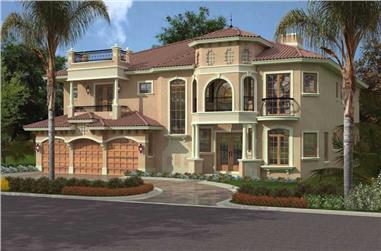5-Bedroom, 5536 Sq Ft Luxury Home Plan - 107-1093 - Main Exterior