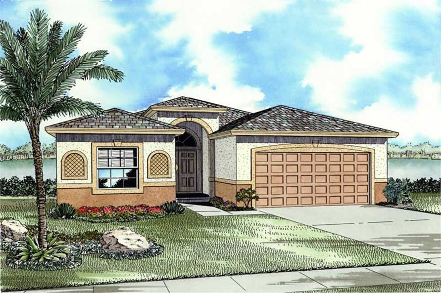 House Plan AA-1619-9401 Front Elevation