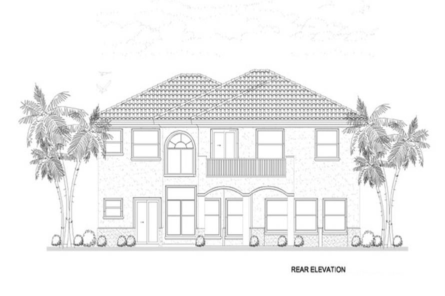 107-1134: Home Plan Rear Elevation