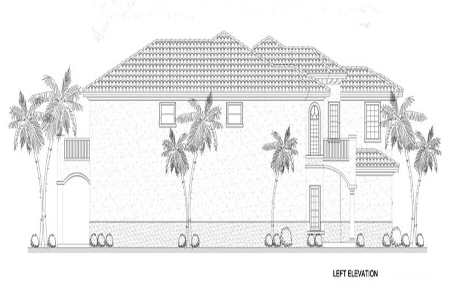107-1134: Home Plan Left Elevation