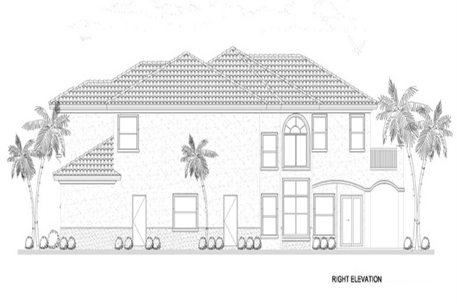 107-1134: Home Plan Right Elevation