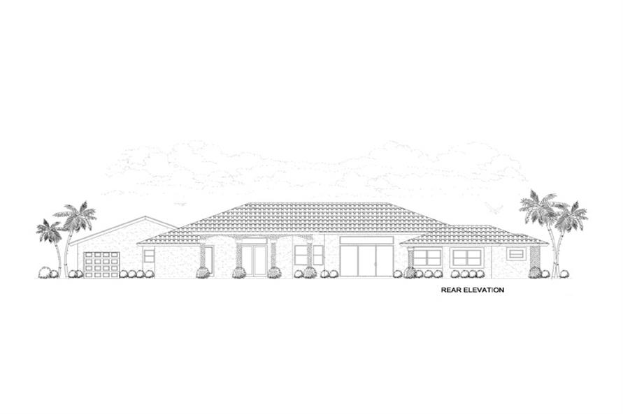 107-1145: Home Plan Rear Elevation