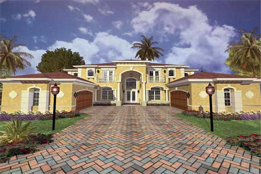Luxury Home Plans color rendering AA5754-0238.