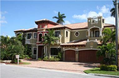 7-Bedroom, 6412 Sq Ft Coastal Home - Plan #107-1182 - Main Exterior