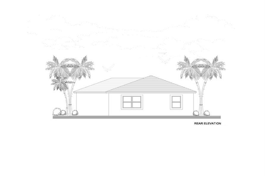 107-1204: Home Plan Rear Elevation