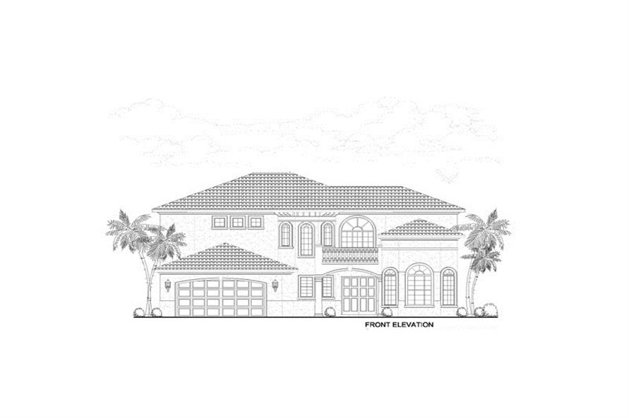 107-1217: Home Plan Front Elevation