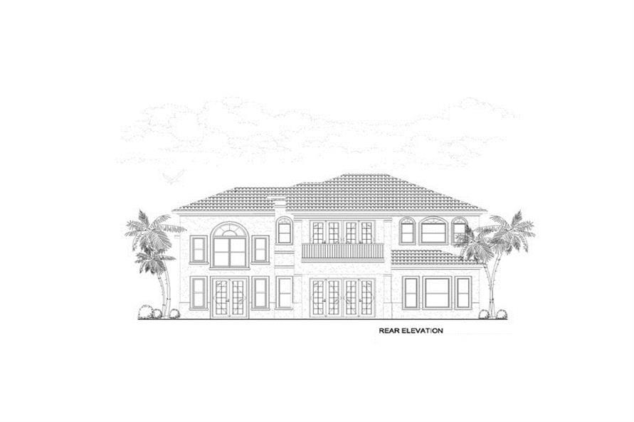 107-1217: Home Plan Rear Elevation