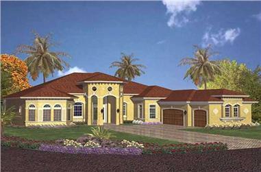 5-Bedroom, 4355 Sq Ft Coastal Home Plan - 107-1221 - Main Exterior