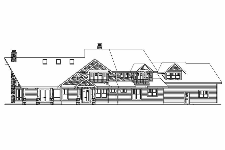 108-1017: Home Plan Rear Elevation