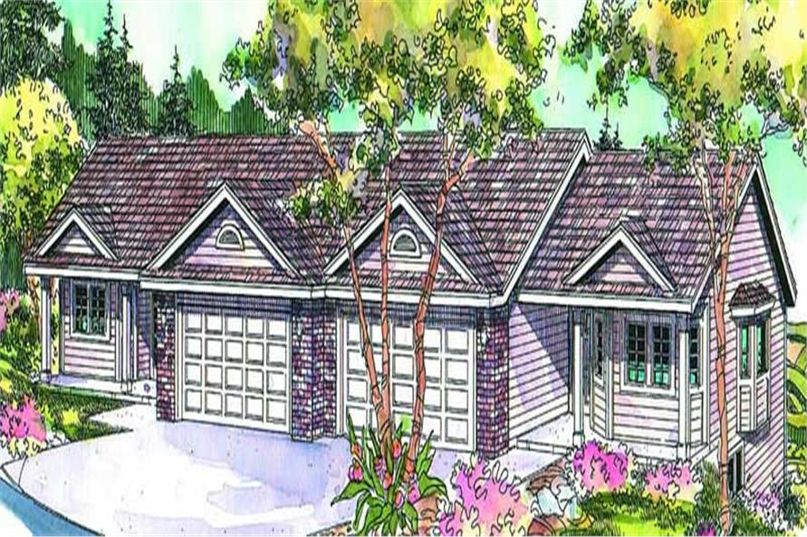 Main image for house plan # 21075