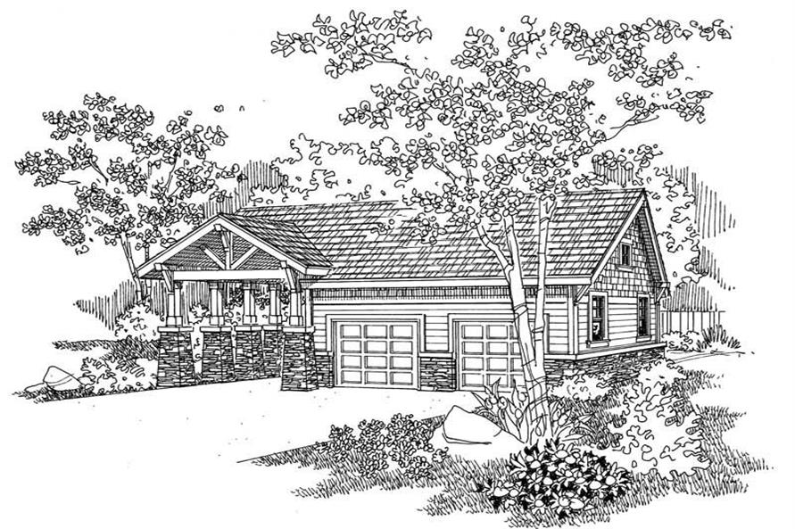 This image shows the garage style of the house plans.
