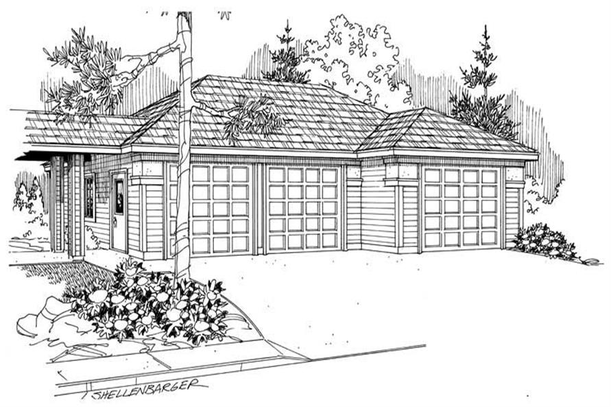 Main image for house plan # 21222