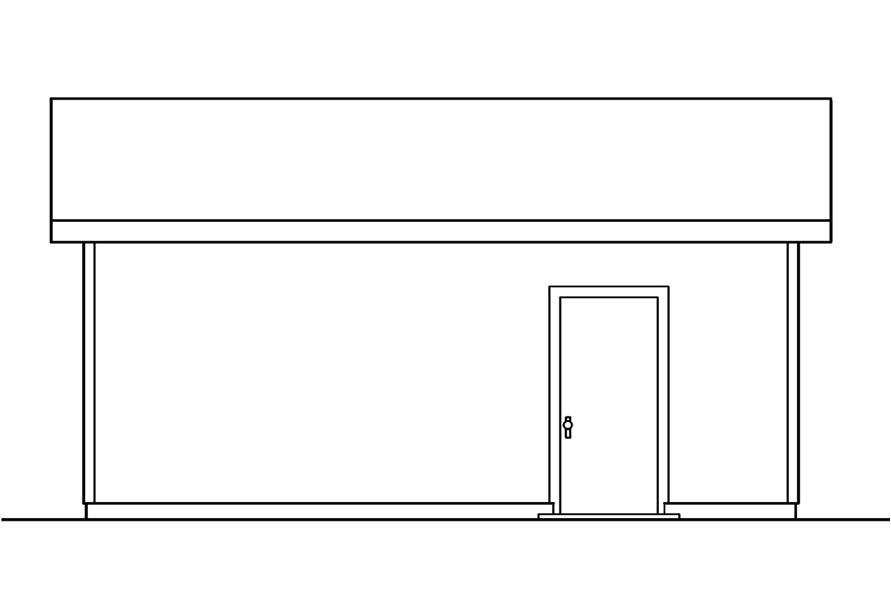 108-1072: Home Plan Left Elevation