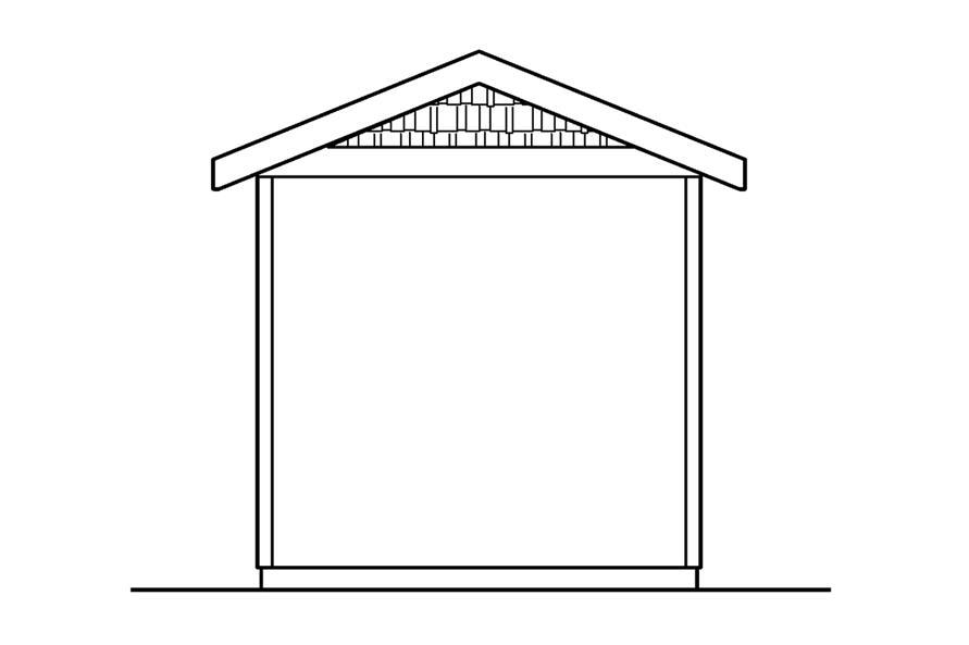 108-1072: Home Plan Rear Elevation