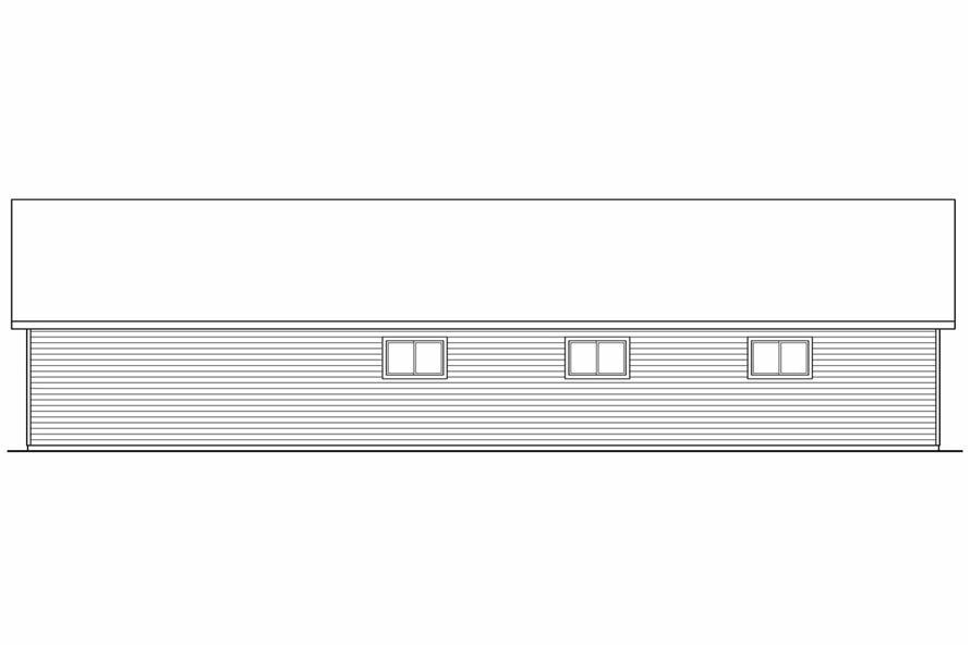 108-1074: Home Plan Rear Elevation