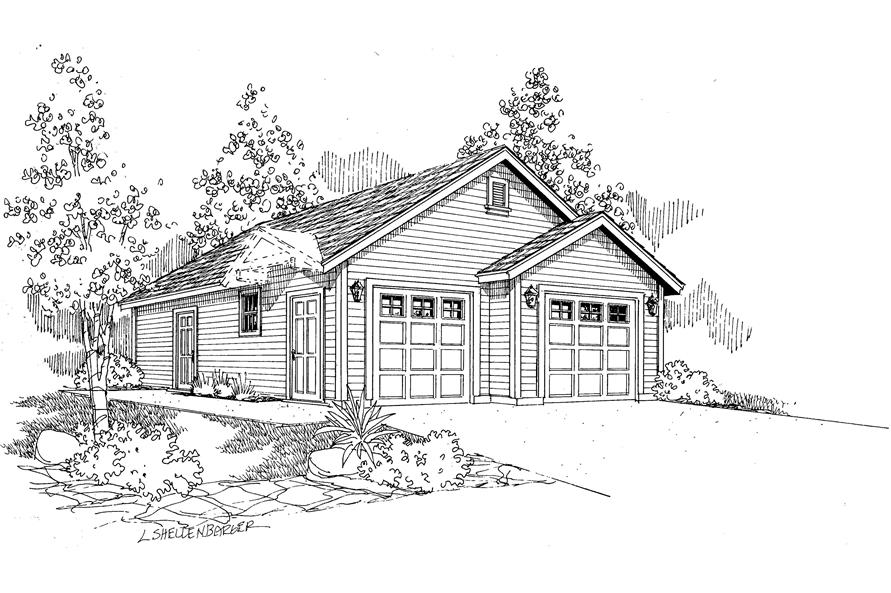 This is a drawing of these Garage Plans.