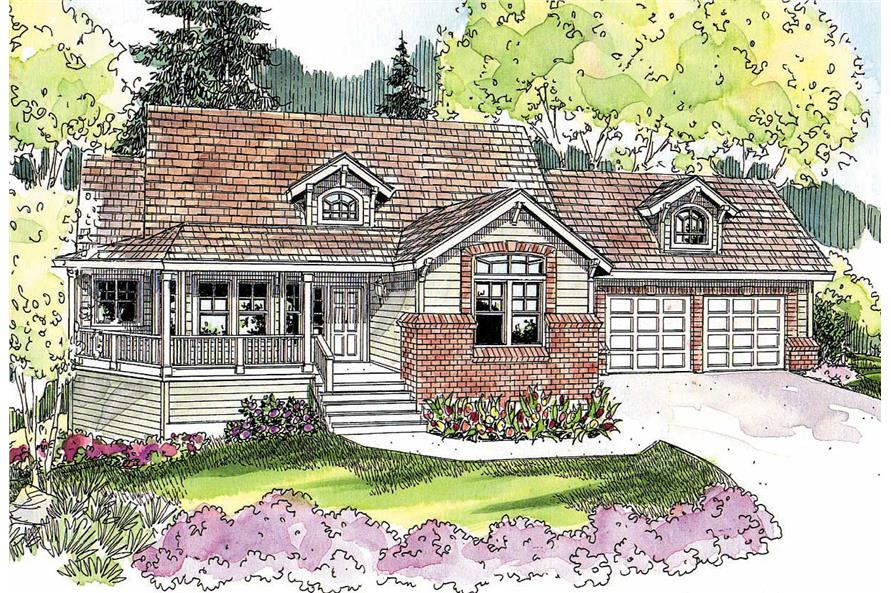 This image shows the Country Style of the house plans.