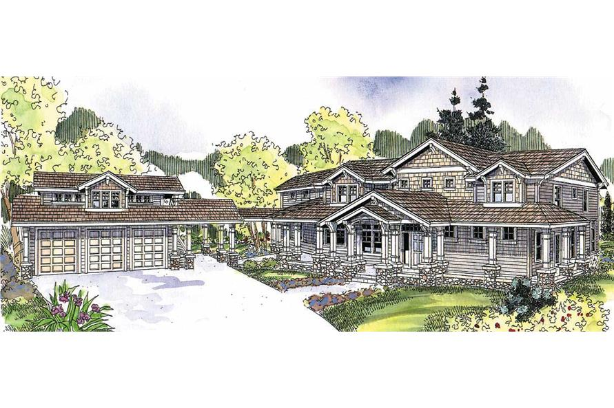 This image shows the Craftsman Style of the house plans.