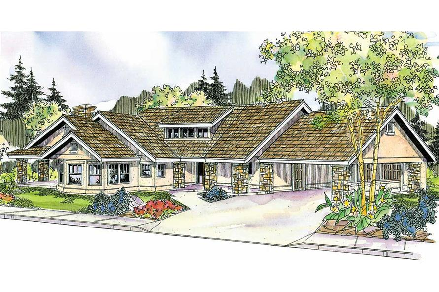 This image shows the Florida Style for this set of house plans.