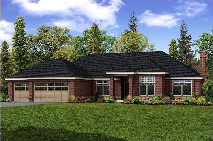 108-1185: Home Plan Front Elevation