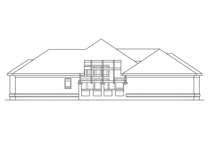 108-1185: Home Plan Left Elevation