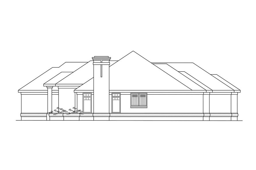 108-1185: Home Plan Right Elevation