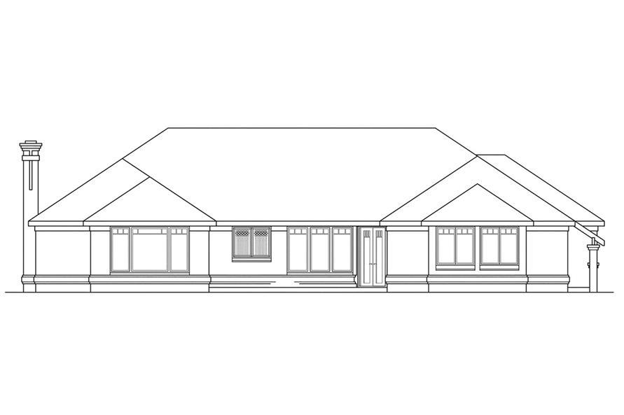 108-1185: Home Plan Rear Elevation