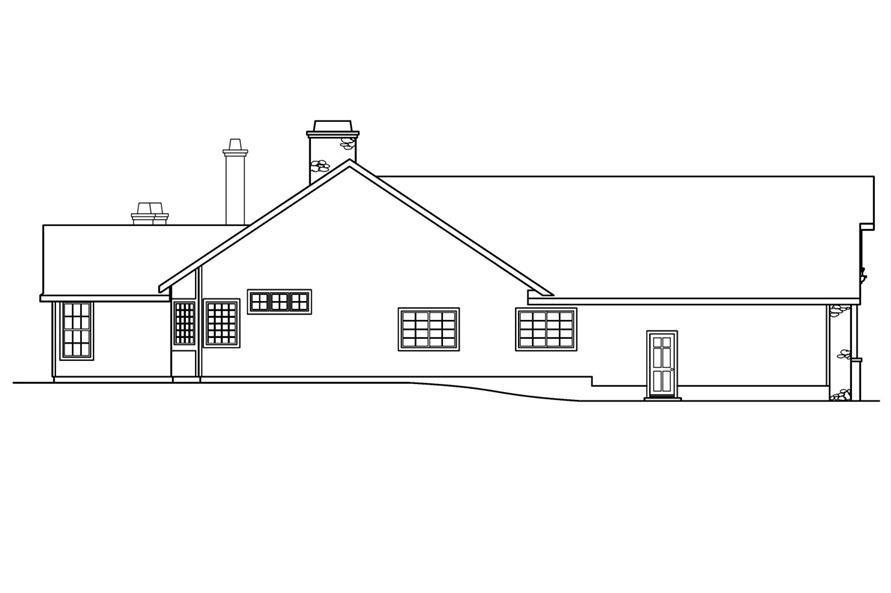 108-1231: Home Plan Left Elevation