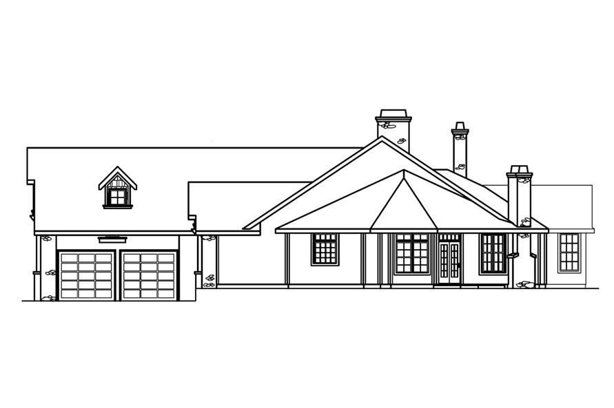 108-1231: Home Plan Right Elevation
