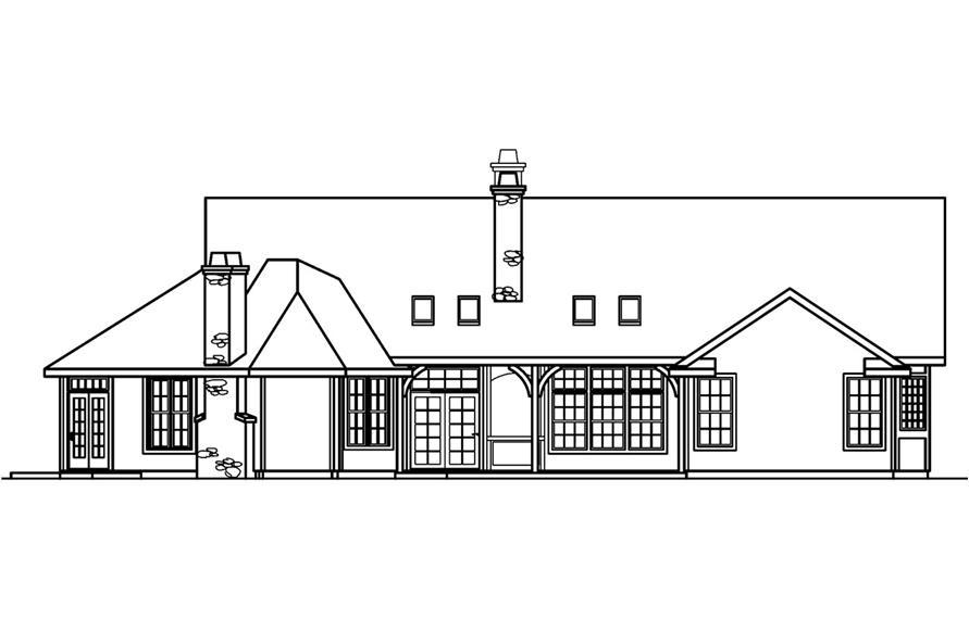 108-1231: Home Plan Rear Elevation