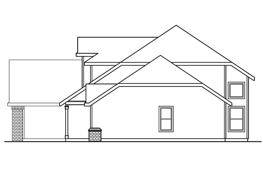 108-1234: Home Plan Right Elevation