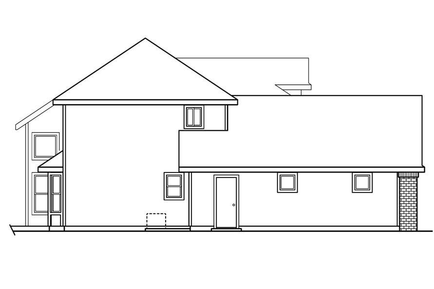 108-1234: Home Plan Left Elevation