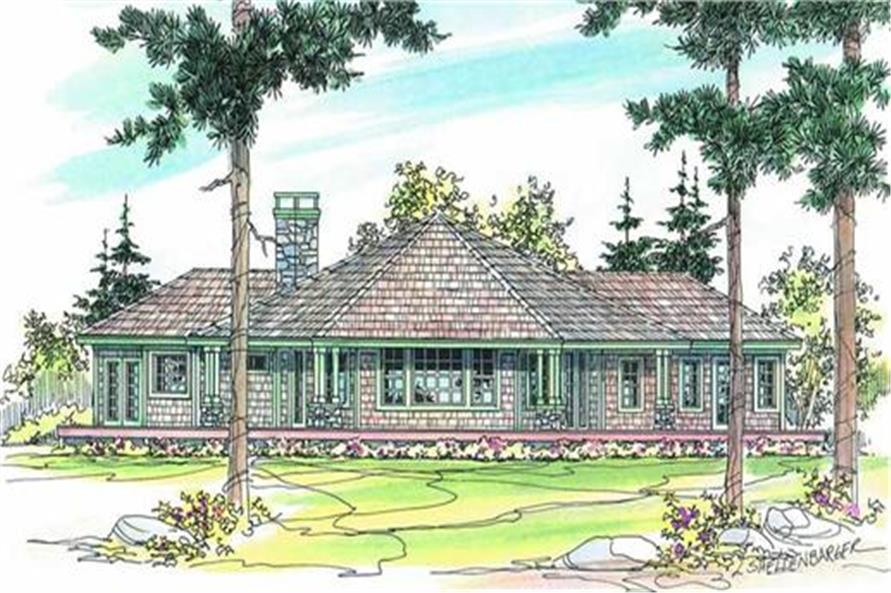 108-1273: Home Plan Rendering-Deck